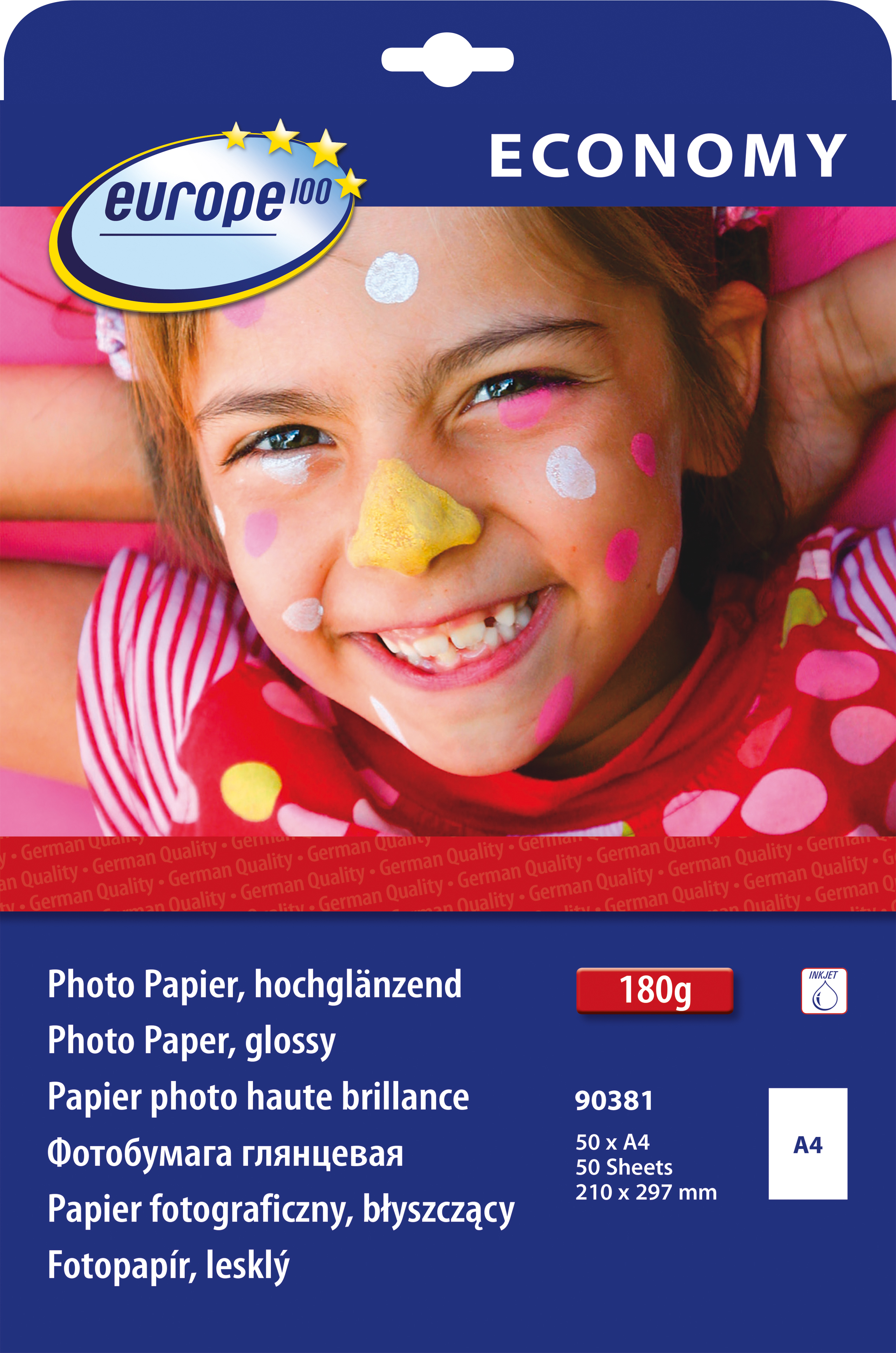 Image of   100 fotopapir glossy 180g A4 inkjet (50)