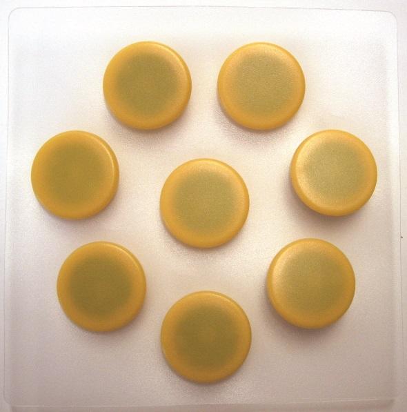 Billede af Magnet 20mm 8/set gul