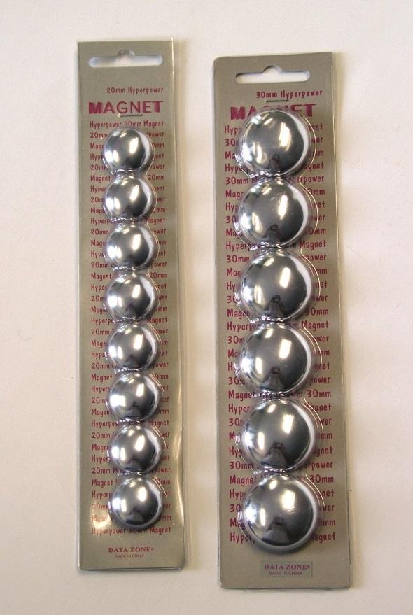 Billede af Magnet 20mm 8/set krom