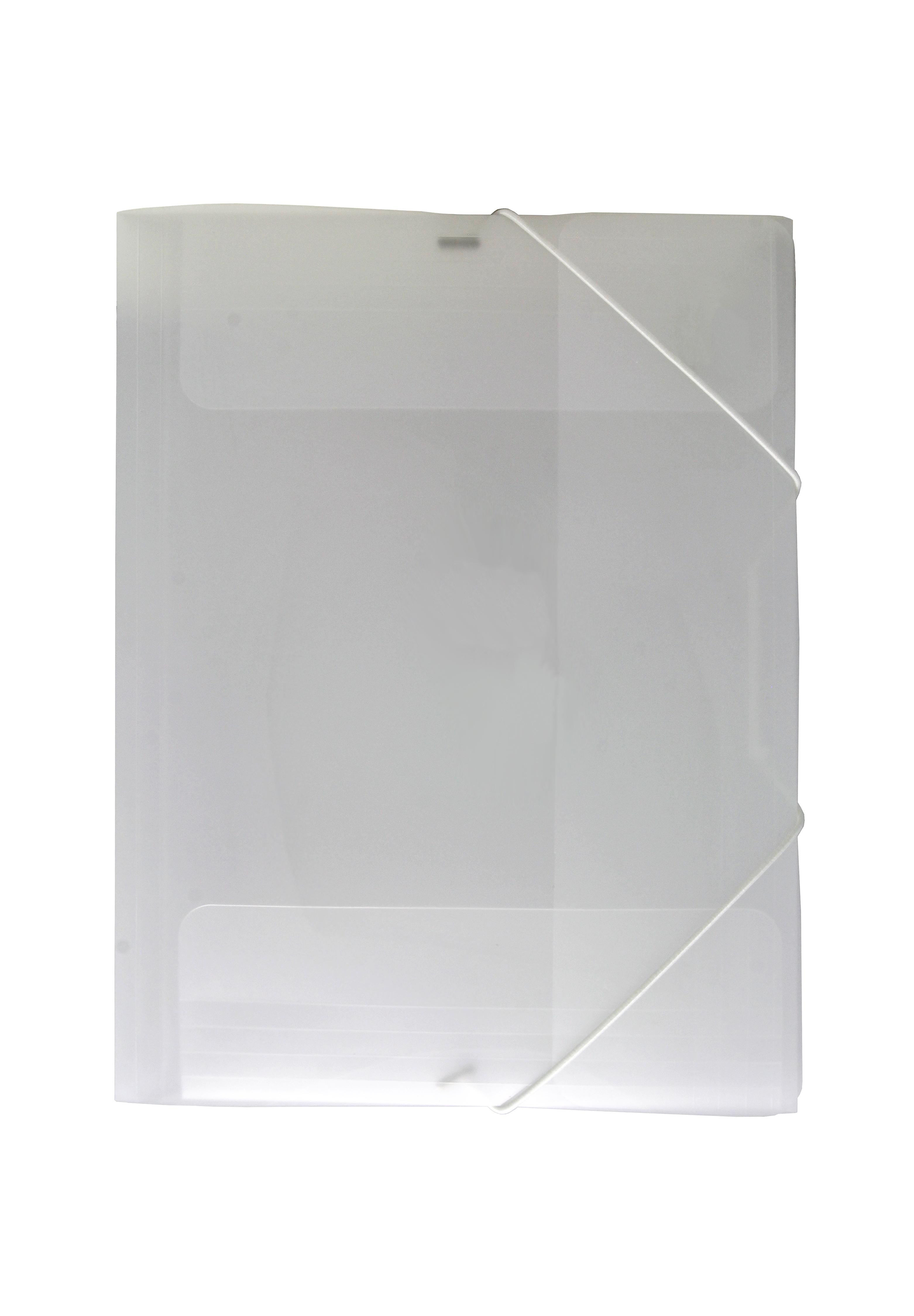 Image of   3-klap elastikmappe A4 transp. klar