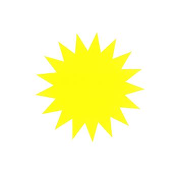 Billede af Stjerne 16 cm 270g 20 st/p fl.gul