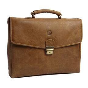 14 Laptops Briefcase, Golden Tan