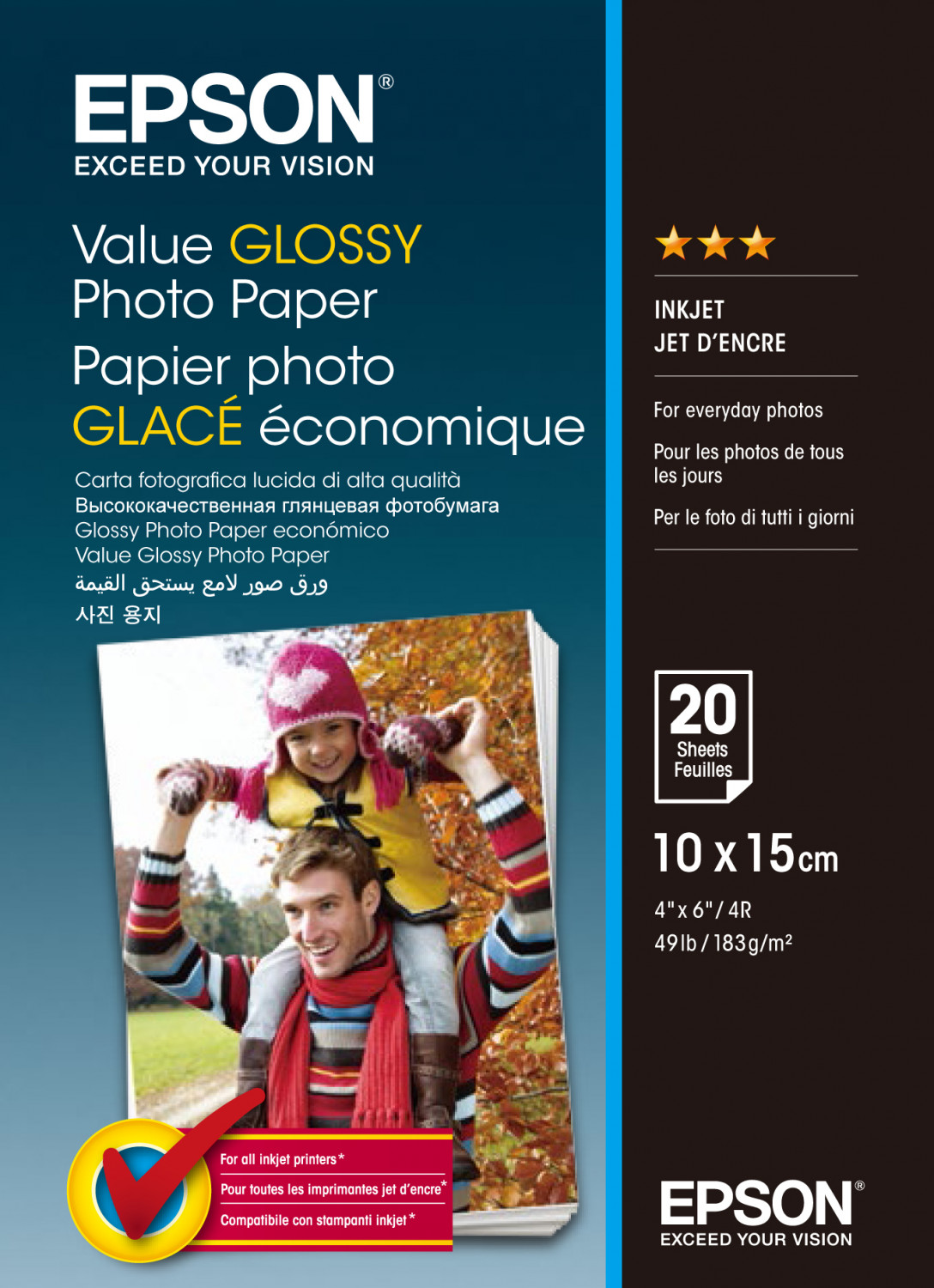 Image of   10x15cm Value Photo Paper 20 sheets