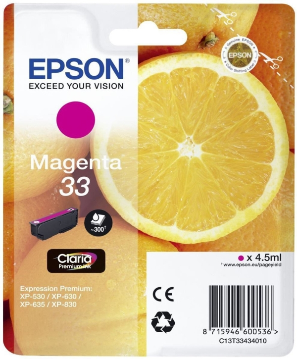 Image of   33 Magenta Claria Premium Ink w/alarm