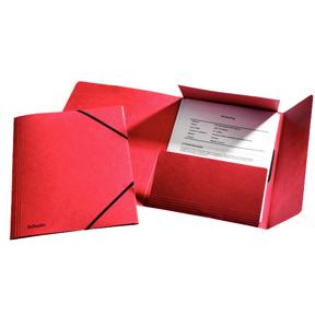 Image of   3-klap elastikmappe A4 rød