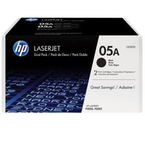 Billede af LaserJet 05A black 2-pack toner