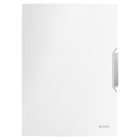 Image of   3-klap elastikmappe Style PP A4 hvid