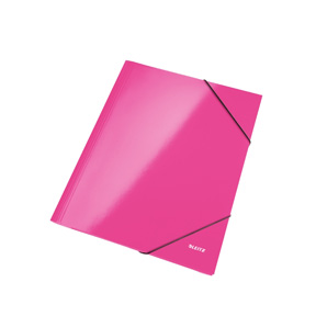 Image of   3-klap elastikmappe WOW A4 pink
