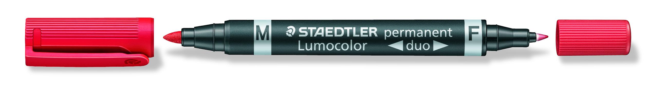 Billede af Marker Lumocolor Duo Perm 0,6-1,5mm rød