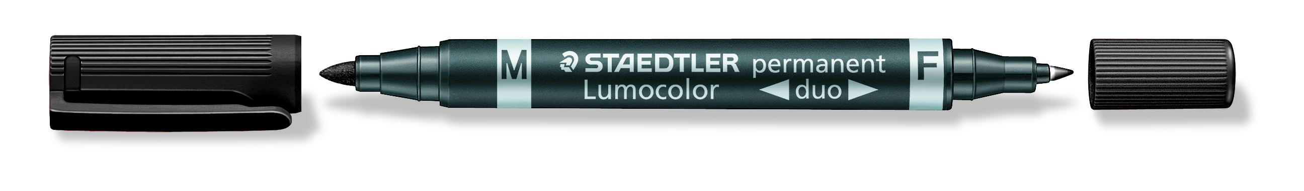 Billede af Marker Lumocolor Duo Perm 0,6-1,5mm sort
