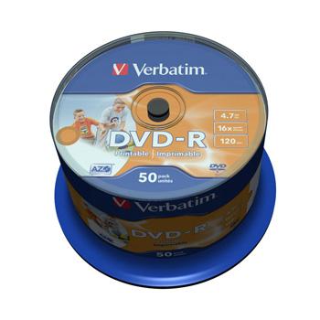 Billede af DVD-R 16x 4,7GB print. spindle BULK (50)