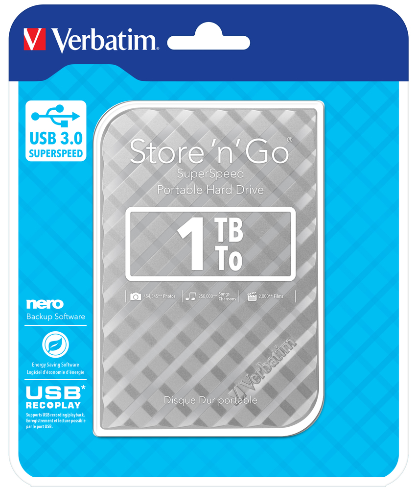 Image of   1TB Hard Drive 2,5 Store N Go silver