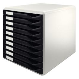 Leitz Post & Form skuffekabinet 10 skuffer PS A4 sort