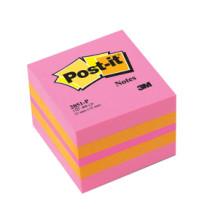 Notes mini kubusblok 51x51 pink