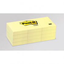 Post-it Notes 38x51 gul (4x3 set)