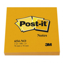 Post-It block 654 76x76 mm, Orange