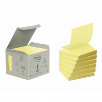 Post-it Z-Notes 76x76 Recycled gul (6)