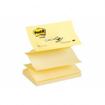 Post-It Z-blok Z-Notes 76x127 gul