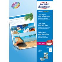 Avery fotopapir glossy 200g A4 laser (200)