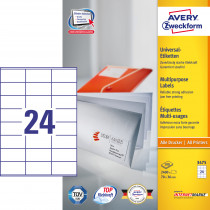 Avery ILC universal etiket 70x36mm (2400)