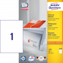 Avery ILC universal etiket 210x297mm (100)