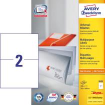 Avery ILC universal etiket 210x148mm (200)
