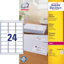Avery adresseetiket 63,5x33,9mm QP (2400)