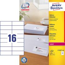 Avery adresseetiket 105x37mm (1600)