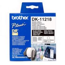 Brother Round labels ø24 hvid papir (1000)