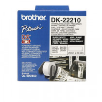 Brother labels 29mmx30,48m white paper