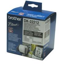 Brother labels 62mmx15,24m hvid film