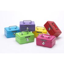Pengekasse mini m/møntindkast assorterede farver