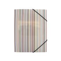 3-klap elastikmappe A4, karton, Ocean