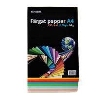 Farvet Papir A4 80g assorteret 250/pak