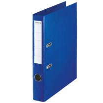 Brevordner u/metalskinne PP A4 50mm blå