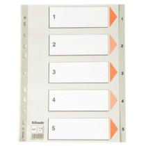 Register PP A4 1-5 grå