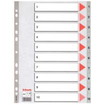 Register PP A4 1-10 grå