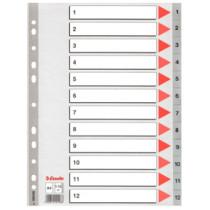 Register PP A4 1-12 grå