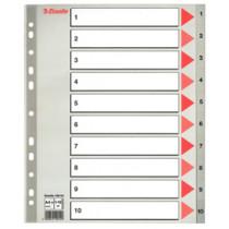 Register PP A4 maxi 1-10 grå