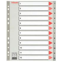 Register PP A4 maxi 1-12 grå