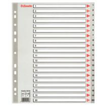 Register PP A4 maxi 1-20 grå