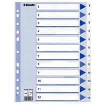 Register PP A4 1-12 hvid