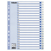 Register PP A4 1-20 hvid