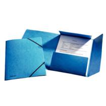 3-klap elastikmappe A4 blå