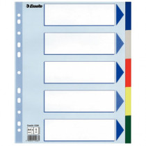 Faneblade PP A4 maxi 5-delt farvede faner