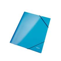 3-klap elastikmappe WOW A4 blå
