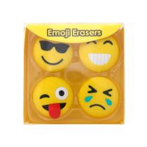 Viskelæder Emojis 4/sæt