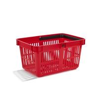 Indkøbskurv 27 liter rød
