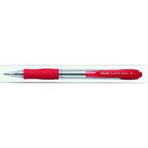 Kuglepen m/klik Super Grip 0,7 rød