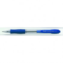 Kuglepen m/klik Super Grip 0,7 blå